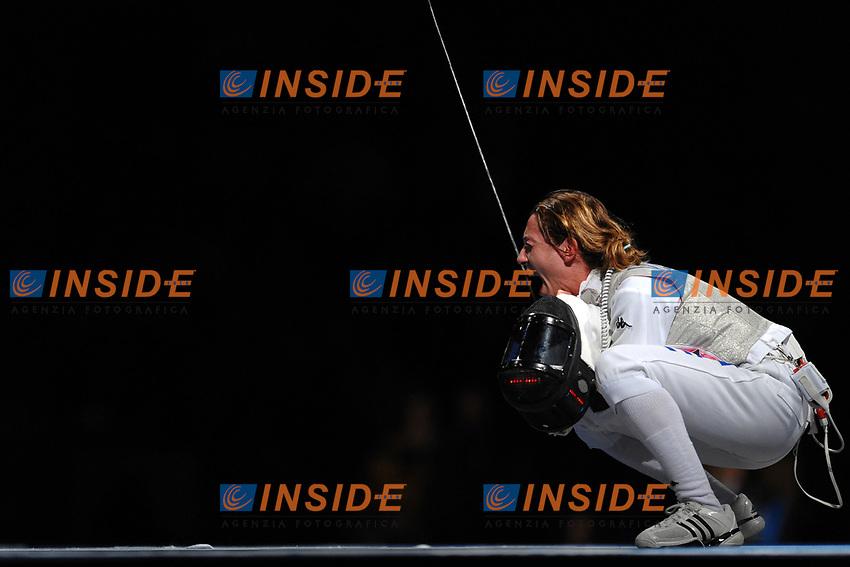 Valentina Vezzali esultanza dopo la conquista della medaglia d'oro<br /> Pechino - Beijing 11/8/2008 Olimpiadi 2008 Olympic Games<br /> Foto Andrea Staccioli Insidefoto