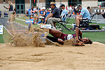 28 MAY 2016: Britney Sullivan of Trinity competes in the triple jump during the Division III Men's and Women's Outdoor Track & Field Championship held at Walston Hoover Stadium on the Wartburg College campus in Waverly, IA. Sullivan finished in 10th place with a jump of  11.77m. Conrad Schmidt/NCAA Photos