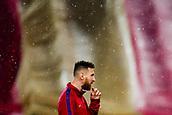 4th November 2017, Camp Nou, Barcelona, Spain; La Liga football, Barcelona versus Sevilla; Leo Messi of FC Barcelona with the catalan flag