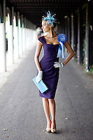 6/7/2010. Ladies Day. Model Diana Donnelly is pictured wearing a number of Ladies Day outfits from a selection at Arnotts to launch the Blossom Hill Ladies Day at the Fáilte Ireland Dublin Horse Show on August 5th. Picture James Horan/Collins Photos