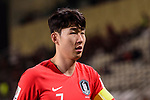 Son Heungmin of South Korea reacts during the AFC Asian Cup UAE 2019 Group C match between South Korea (KOR) and China (CHN)  at Al Nahyan Stadium on 16 January 2019 in Abu Dhabi, United Arab Emirates. Photo by Marcio Rodrigo Machado / Power Sport Images