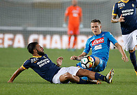 Piotr Zielinski  during the  italian serie A soccer match,between Hellas Verona and SSC Napoli  at  the Bentegodi    stadium in Verona  Italy , August 19, 2017
