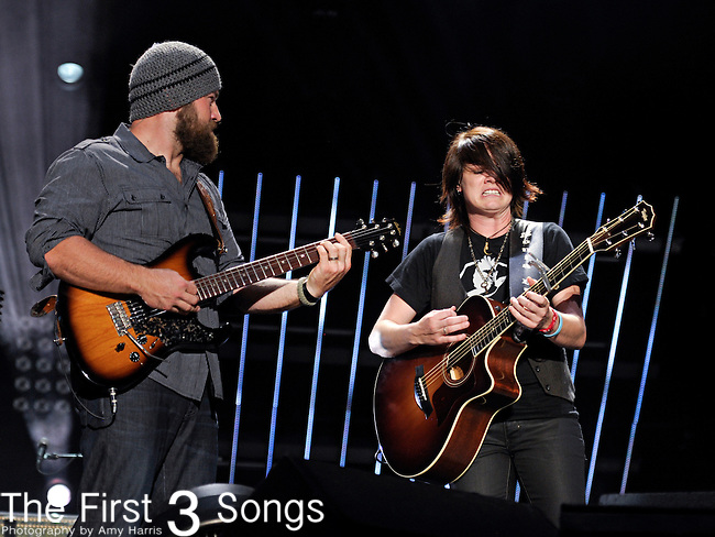 Zac Brown of the Zac Brown Band performs with Sonia Lee at LP Field during the 2011 CMA Music Festival on June 9, 2011 in Nashville, Tennessee.