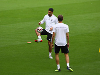 Emre Can (Deutschland, Germany) und Jonas Hector (Deutschland Germany)- 15.10.2018: Abschlustraining Deutschland vor dem Spiel Frankreich vs. Deutschland, 4. Spieltag UEFA Nations League, Stade de France, DISCLAIMER: DFB regulations prohibit any use of photographs as image sequences and/or quasi-video.