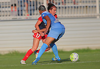 Boyds, MD - Saturday July 09, 2016: Cali Farquharson, Samantha Johnson during a regular season National Women's Soccer League (NWSL) match between the Washington Spirit and the Chicago Red Stars at Maureen Hendricks Field, Maryland SoccerPlex.