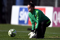 Valentina Casaroli of AS Roma during the warm up prior to the Women Italy cup round of 8 second leg match between AS Roma and Roma Calcio Femminile at stadio delle tre fontane, Roma, February 20, 2019 <br />  Foto Andrea Staccioli / Insidefoto