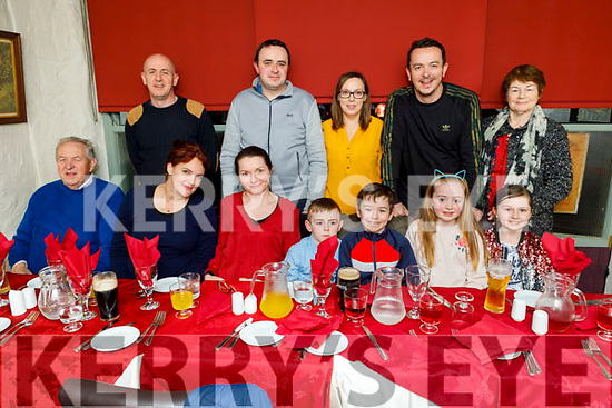 The Healy family from Lyrecrompane enjoying the evening in Cassidys on Thursday.<br /> L to r: JJ , Rebecca, Deirdre, Daniel, Jimmy, Lucey and Sadhbh Healy.<br /> Back l to r: John, Tony, Fiona, James and Nora Healy.