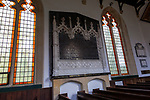 Inside village parish church of Saint Peter, Everleigh, Wiltshire, England 1813 memorial to Francis Dugdale Astley