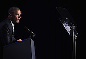 United States President President Barack Obama speaks during the General Session of the 2015 DNC Winter Meeting February 20, 2015 in Washington, DC. President Obama addressed the event and participated in a roundtable discussion.  <br /> Credit: Alex Wong / Pool via CNP