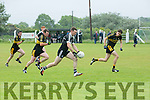 In Action Ardfert's John Egan gets away from Currow at the Division 3, Ardfert v Currow, on Sunday in Ardfert