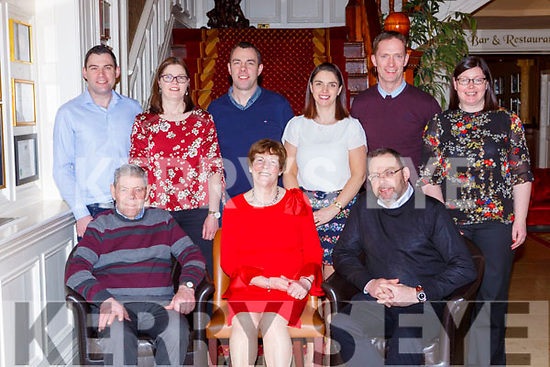Dan Joe and Bridget McCarthy Mastergeeha, Kilcummin, celebrated 50th wedding anniversary  front row l-r: Dan Joe, Bridget McCarthy and John McCArthy Carthy, Ann Flashman, Danny McCarthy, Breda Healy Patrick Anderson, Noreen Anderson.