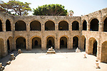 Courtyard, Archaeological museum, Rhodes, Greece