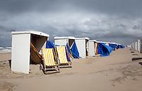 Zwaar weer aan het strand
