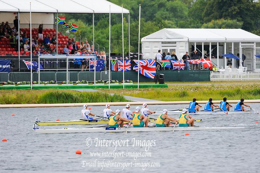 Eton. Great Britain. AUS JM4-, C Final, FISA Junior  World Rowing Championships. Dorney Lake, Nr Windsor. Saturday, 06/08/2011 [Mandatory credit: Intersport Images]