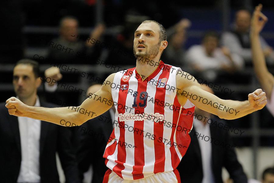 Kosarka ABA League season 2015-2016<br /> Crvena Zvezda v Cedevita<br /> Marko Simonovic celebrates<br /> Beograd, 04.01.2015.<br /> foto: Srdjan Stevanovic/Starsportphoto&copy;