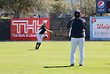 Ichiro Suzuki (Yankees), Hideki Matsui ,<br /> FEBRUARY 20, 2014 - MLB : Ichiro Suzuki (L) of the New York Yankees and guest instructor Hideki Matsui during the Yankees spring training baseball camp at George M. Steinbrenner Field in Tampa, Florida, United States.<br /> (Photo by Thomas Anderson/AFLO) (JAPANESE NEWSPAPER OUT)