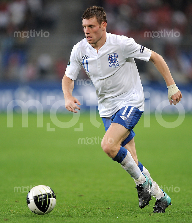FUSSBALL INTERNATIONAL  EM 2012-Qualifikation  Gruppe A  07.09.2010 Schweiz - England James MILNER (England)