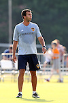 24 June 2014: Los Angeles assistant coach Kenny Arena. The Carolina RailHawks of the North American Soccer League played the Los Angeles Galaxy of Major League Soccer at Koka Booth Stadium at WakeMed Soccer Park in Cary, North Carolina in the fifth round of the 2014 Lamar Hunt U.S. Open Cup soccer tournament. The RailHawks won the game 1-0 in overtime.