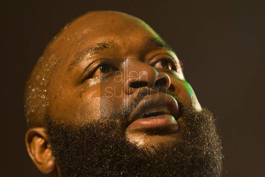 Rick Ross performs during the Boost Mobile RockCorps concert at The Fox Theatre in Atlanta on Saturday, June 9, 2007.