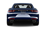 Straight rear view of a 2018 Porsche Panamera 4 E-Hybrid 5 Door Hatchback stock images