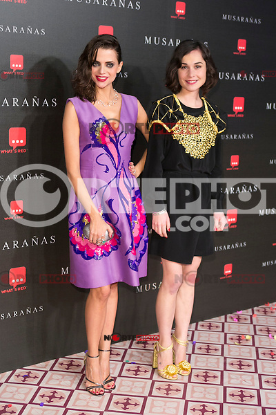 "Nadia Santiago and Macarena Gomez attend the Premiere of the movie ""Musaranas"" in Madrid, Spain. December 17, 2014. (ALTERPHOTOS/Carlos Dafonte) /NortePhoto /NortePhoto.com"