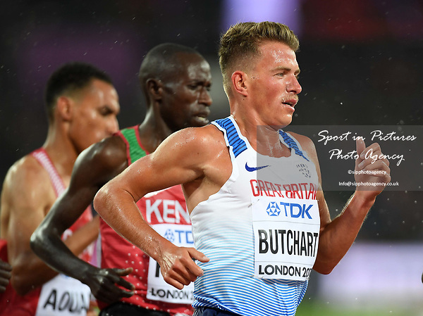 Andrew BUTCHART (GBR) in the mens 5000m heats. IAAF world athletics championships. London Olympic stadium. Queen Elizabeth Olympic park. Stratford. London. UK. 09/08/2017. ~ MANDATORY CREDIT Garry Bowden/SIPPA - NO UNAUTHORISED USE - +44 7837 394578
