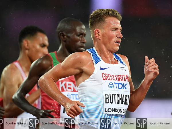 AndrewBUTCHART (GBR) in the mens 5000m heats. IAAF world athletics championships. London Olympic stadium. Queen Elizabeth Olympic park. Stratford. London. UK. 09/08/2017. ~ MANDATORY CREDIT Garry Bowden/SIPPA - NO UNAUTHORISED USE - +44 7837 394578