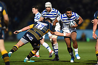 Aled Brew of Bath Rugby takes on the Worcester Warriors defence. Gallagher Premiership match, between Worcester Warriors and Bath Rugby on January 5, 2019 at Sixways Stadium in Worcester, England. Photo by: Patrick Khachfe / Onside Images