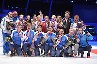 SHORTTRACK: DORDRECHT: Sportboulevard Dordrecht, 25-01-2015, ISU EK Shorttrack, Team RUSSIA, ©foto Martin de Jong