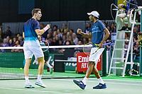 Rotterdam, The Netherlands, 12 Februari 2019, ABNAMRO World Tennis Tournament, Ahoy, first round doubles: Rajeev Ram (USA) - Joe Salisbury (GBR) (L),<br /> Photo: www.tennisimages.com/Henk Koster