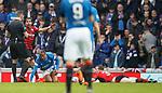 07.04.2018 Rangers v Dundee:<br /> Bruno Alves tackles Craig Wighton