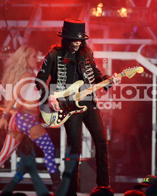 ALBUQUERQUE NM - AUGUST 7:  Mick Mars of Motley Crue performs at the Hard Rock Casino Albuquerque on August 7, 2012 in Albuquerque, New Mexico. Credit: MediaPunch Inc.