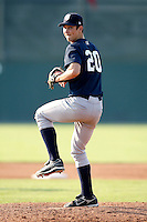 August 16, 2009:  Pitcher Matt Richardson of the Staten Island Yankees delivers a pitch during a game at Dwyer Stadium in Batavia, NY.  Staten Island is the Short-Season Class-A affiliate of the New York Yankees.  Photo By Mike Janes/Four Seam Images