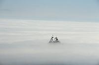 Navy ship dissapears into fog