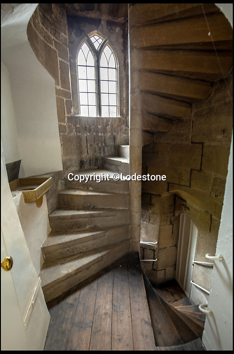 BNPS.co.uk (01202 558833)<br /> Pic: Lodestone/BNPS<br /> <br /> The building contains some stunning architectural details.<br /> <br /> Divine Location...First time on the market in 800 years - The historic Deanery of Wells Cathedral in Somerset.<br /> <br /> A historic 800 year old property offering unrivalled views of Britain's 'most beautiful and poetic' cathedral has emerged for sale for the first time.<br /> <br /> The majestic Old Deanery, overlooking Wells Cathedral, was the primary residence of 62 Deans from 1230 until 1958.<br /> <br /> For the past six decades, it has been used as the diocesan offices for the Diocese of Bath and Wells accommodating over 50 staff, who are now relocating to a new building in the outskirts of Wells, Somerset.<br /> <br /> The Grade I listed building whose earliest fabric dates back to the 12th century is on the market with estate agents Lodestone for £2.5million.