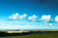 North Berwick Law and Bass Rock from the Garelton Hills near Athelstaneford, East Lothian