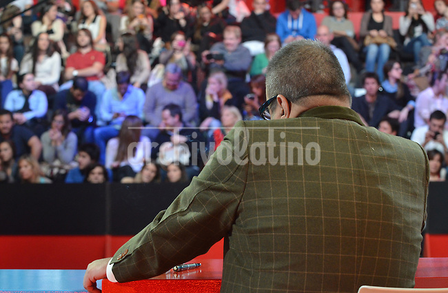 Journalist Jorge Lanata during his TV show Journalism for Everyone denouncing corruption cases in the government of Cristina Fernandez de Kirchner become the biggest success of the TV of Argentina in 2013 and the man who   damaged more the image of the Kirchner´s decade in the goverment
