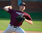 WATERTOWN,  CT-071018JS17-- Naugatuck's Chris Flynn (8) delivers a pitch during their Zone 5 American Legion game against Oakville Tuesday at the Taft School in Watertown. <br />  Jim Shannon Republican American