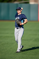 Corpus Christi Hooks center fielder Drew Ferguson (20) warms up before a game against the Springfield Cardinals on May 30, 2017 at Hammons Field in Springfield, Missouri.  Springfield defeated Corpus Christi 4-3.  (Mike Janes/Four Seam Images)