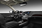 Passenger side dashboard view of a 2011 Infiniti M37S Sedan.