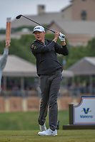 Mackenzie Hughes (CAN) watches his tee shot on 11 during Round 2 of the Valero Texas Open, AT&amp;T Oaks Course, TPC San Antonio, San Antonio, Texas, USA. 4/20/2018.<br /> Picture: Golffile | Ken Murray<br /> <br /> <br /> All photo usage must carry mandatory copyright credit (&copy; Golffile | Ken Murray)