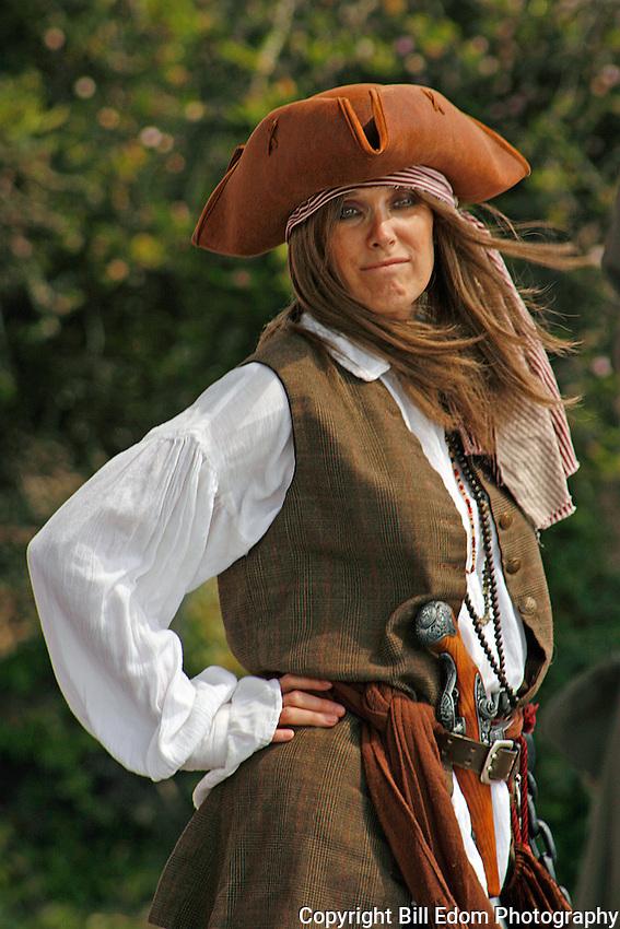 A Happy Lady Pirate