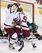 Allison Szlosek (BC - 8), Allie Thunstrom (BC - 9) - The University of Vermont Catamounts defeated the Boston College Eagles 5-1 on Saturday, November 7, 2009, at Conte Forum in Chestnut Hill, Massachusetts.