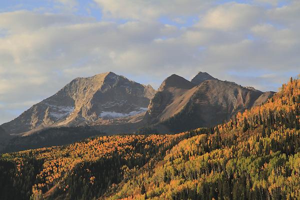 Mountain view from McCLure Pass  near Aspen, Colorado,USA John offers autumn photo tours throughout Colorado.