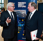 Brussels - Belgium, June 05, 2012; .'Concepts for a European Industrial Renewal' - a conference held by FES (Friedrich-Ebert-Stiftung) and hosted by the CoR Committee of the Regions; with i.a. Frank-Walter STEINMEIER (le), Chairman of the SPD parliamentary Group at the German Parliament, Deutscher Bundestag; Karl-Heinz LAMBERTZ (ri), Minister-President of the German-speaking Community of Belgium and President of the PES Group in the CoR; Peter EHRLICH, FTD-Correspondent; Andrae GAERBER, Director of FES-EU-Office; .Photo: © HorstWagner.eu