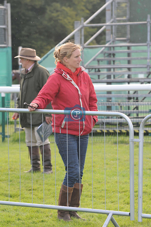 Georgina Tapner at the 1st Veterinary Inspection at the 2012 Land Rover Burghley Horse Trials in Stamford, Lincolnshire, England, UK.