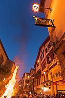 Europe/France/Aquitaine/64/Pyrénées-Atlantiques/Pays-Basque/Saint-Jean-de-Luz: Bucher de la Saint-Jean lors des Fêtes de la Saint-Jean //  // France, Pyrenees Atlantiques, Basque Country,  Saint Jean de Luz: Saint John's Eve