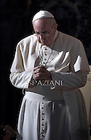 Pope Francis during his weekly general audience in St. Peter square at the Vatican, Wednesday. December 17, 2014