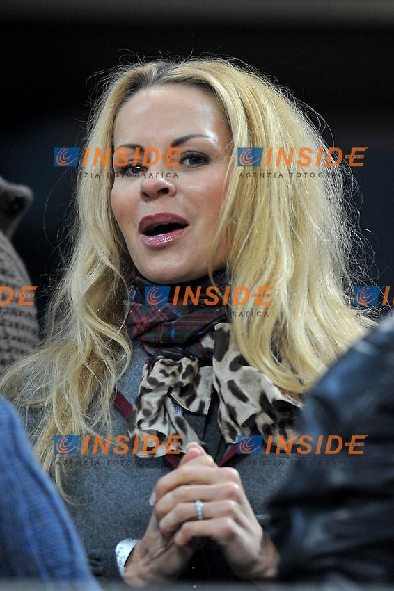 "Helena Seger Moglie IBRAHIMOVIC (Milan)..Milano 27/11/2011 Stadio ""Giuseppe Meazza""..Serie A 2011/2012..Football Calcio Milan Vs Chievo Verona..Foto Insidefoto Alessandro Sabattini.."