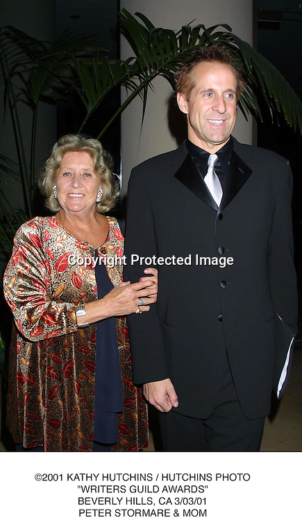 "©2001 KATHY HUTCHINS / HUTCHINS PHOTO.""WRITERS GUILD AWARDS"".BEVERLY HILLS, CA 3/03/01.PETER STORMARE & MOM"